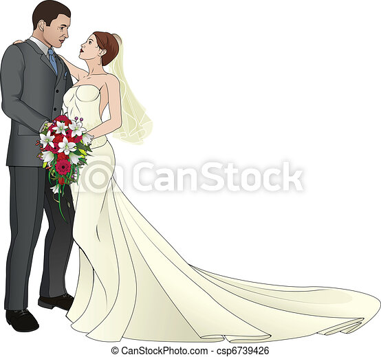 Bride and Groom - csp6739426