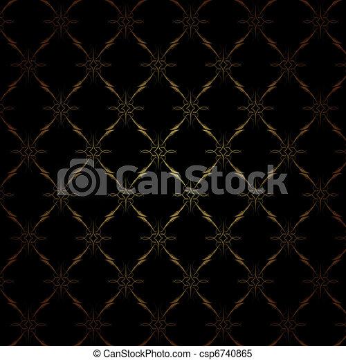 vecteur clipart de papier peint luxe vendange papier peint dor csp6740865. Black Bedroom Furniture Sets. Home Design Ideas