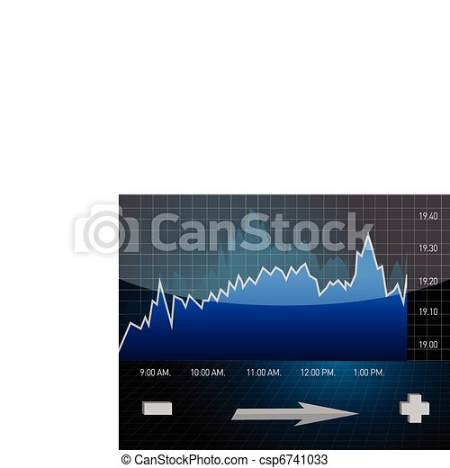 Stock market trend Finance concept - csp6741033