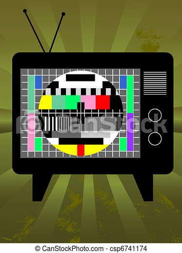 Retro television - csp6741174