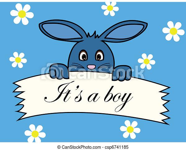 Vecteur clipart de annonce naissance naissance annonce de a b b gar on csp6741185 - Naissance dessin ...