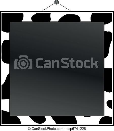 Cow Print Border Clip Art