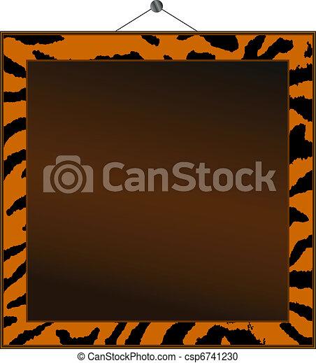 Tiger print frame - csp6741230