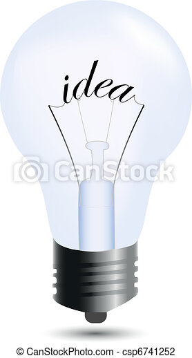 Idea bulb isolated on white - csp6741252