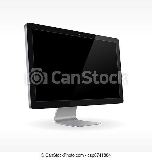 Black LCD monitor - csp6741884
