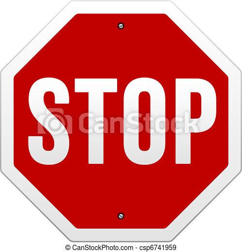 Stop Sign vector - csp6741959