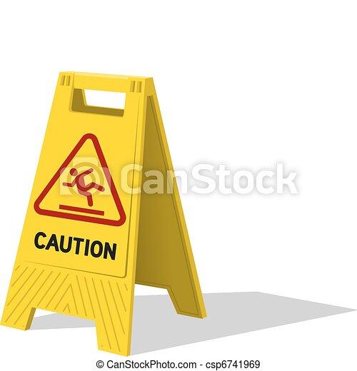 Wet floor - csp6741969