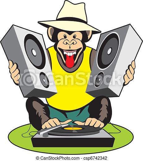 Monkey - music lover - csp6742342