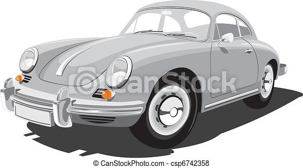 Retro sport car - csp6742358
