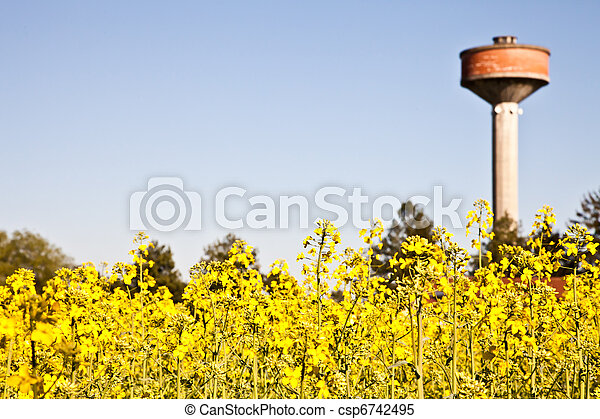Country and water tower - csp6742495