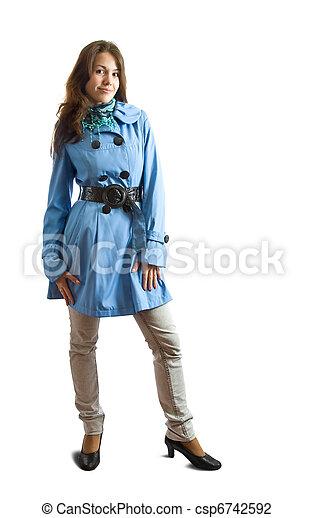 Pretty girl in cloak - csp6742592