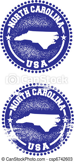 North Carolina USA Stamps - csp6742603