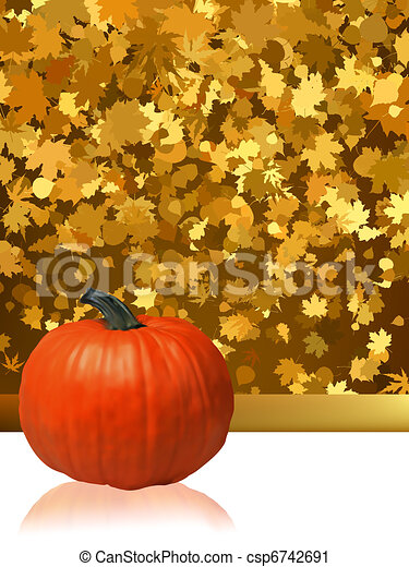 Composition for Thanksgiving invitation. EPS 8 - csp6742691