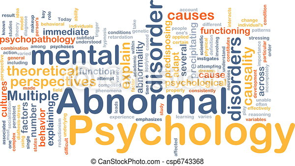 Abnormal psychology background concept - csp6743368