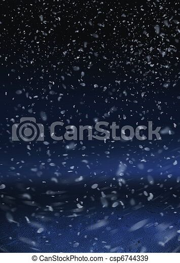 Snow are falling on the background - csp6744339