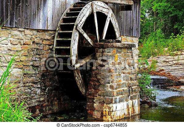 historic sawmill - csp6744855