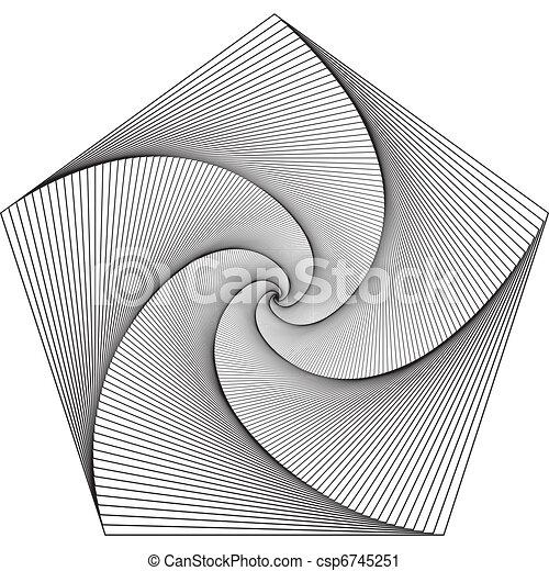 Hypnotic Pentagram - Spiral to infinity - csp6745251