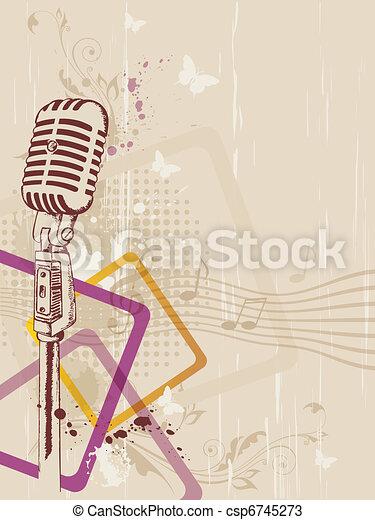 retro microphone - csp6745273