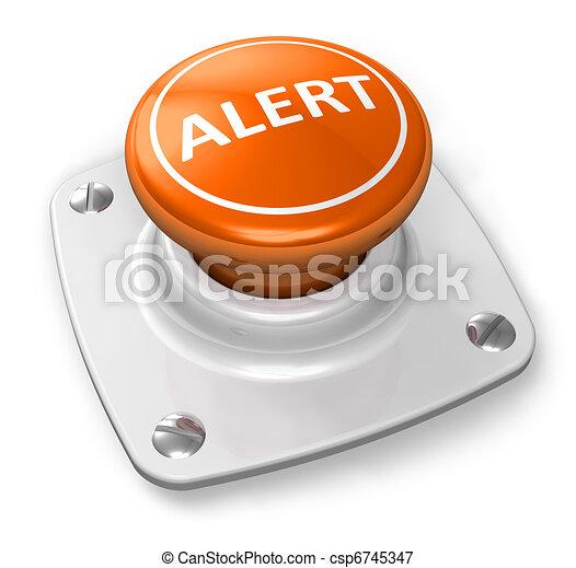 Orange alert button - csp6745347