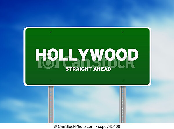 Hollywood Highway  Sign - csp6745400