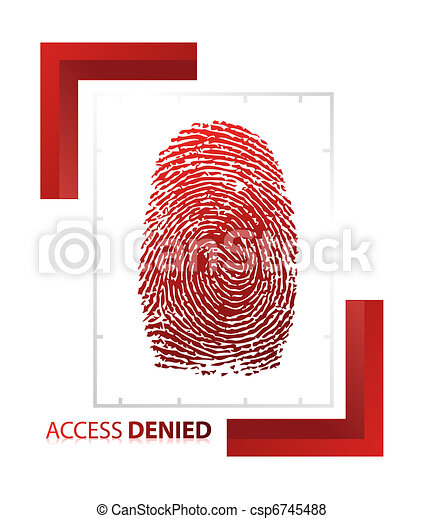 illustration of access denied sign  - csp6745488