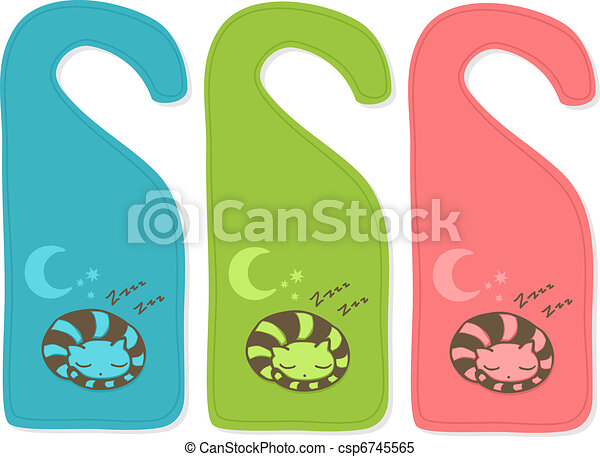 Cute door hanger - csp6745565