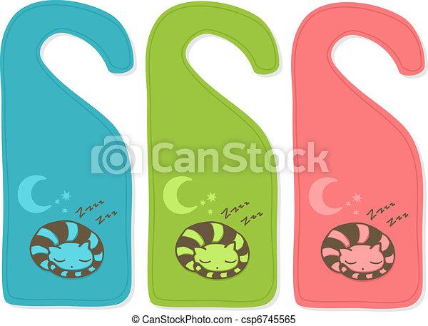 Cute door hanger - csp6745565