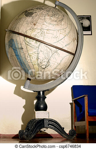 globe in geographic museum - csp6746834