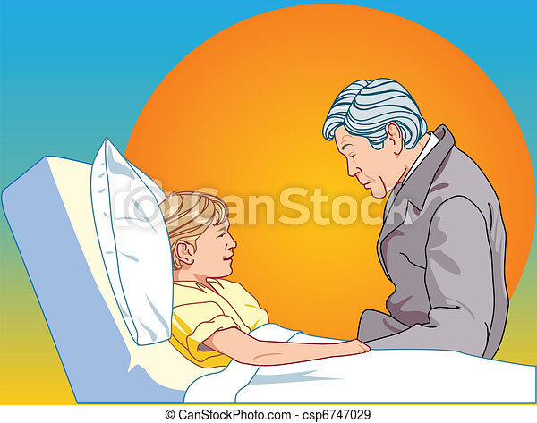 Man about be sick child - csp6747029