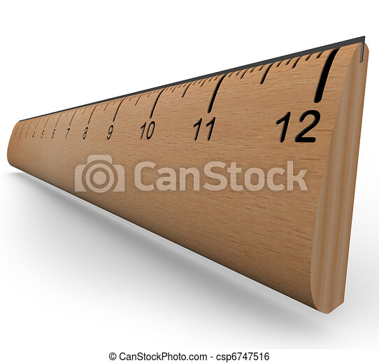 Wooden Ruler to Measure an Object in Experiment or Research - csp6747516