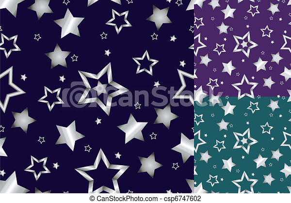 Seamless silver star pattern - csp6747602