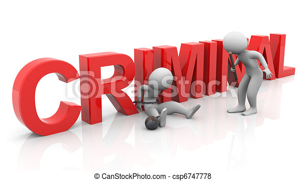 3d tied criminal investigation - csp6747778