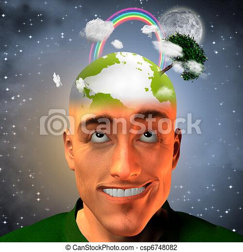 Environment Man - csp6748082