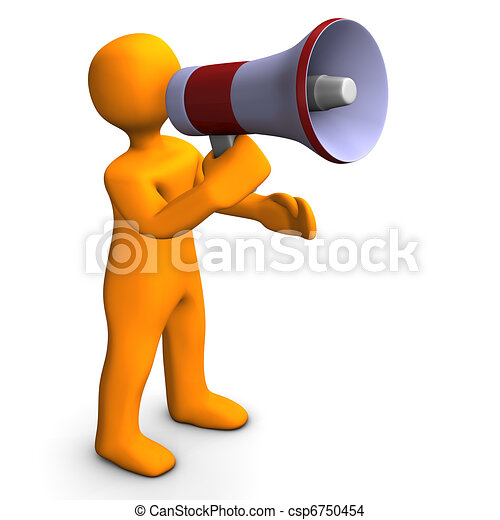 Man With Bullhorn - csp6750454