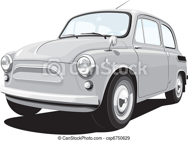 Retro small car - csp6750629