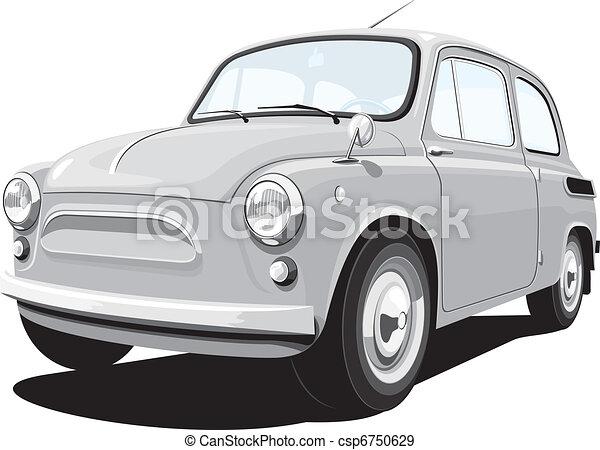 Retro small car - csp6750629