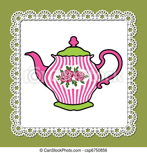 Clip Art Teapot Clip Art teapot clipart and stock illustrations 10712 vector eps abstract illustration of pink with roses on