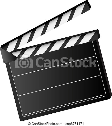 movie clapper board - csp6751171