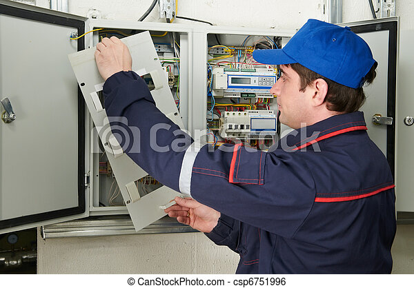 Electrician at work - csp6751996