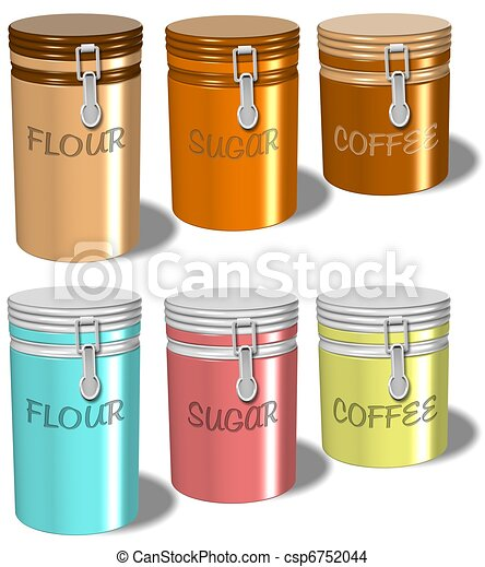 Flour sugar coffee containers  - csp6752044