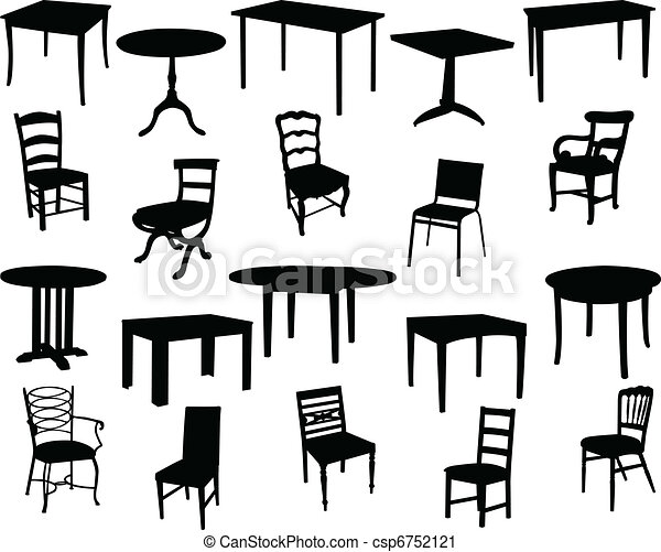 Tables and chairs - csp6752121