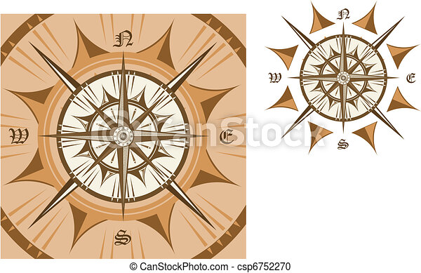 Medieval compass - csp6752270