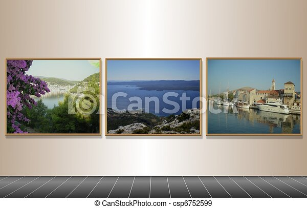 Framed holiday destinations - csp6752599