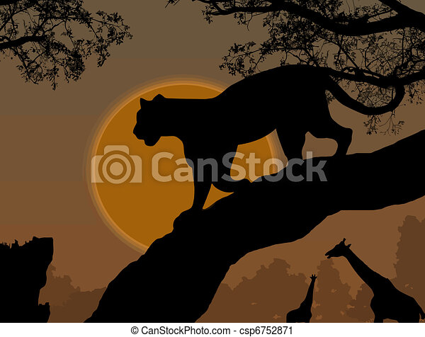panther on a tree - csp6752871