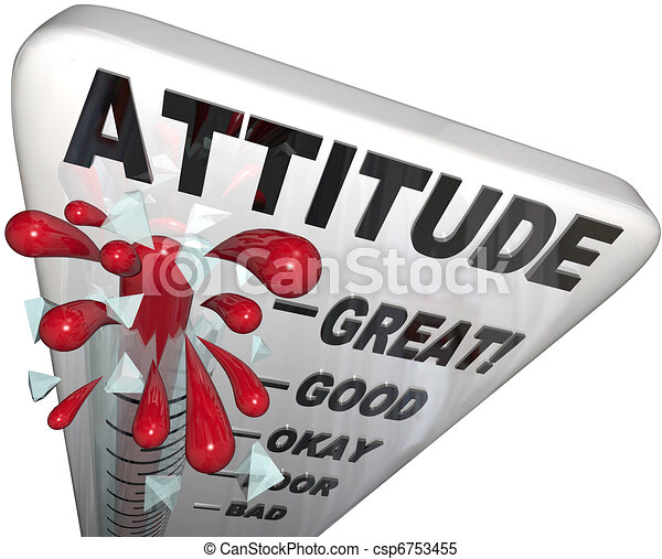 Attitude Measuring on Thermometer Positivity for Success - csp6753455
