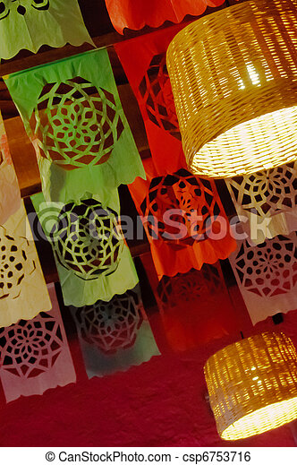 Colorful paper flags - csp6753716