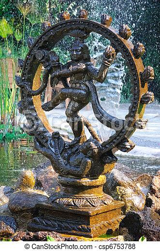 Bronze statue indian goddess Shiva Nataraja - Lord of Dance - csp6753788
