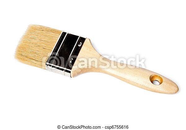 paintbrush with stiff bristles - csp6755616