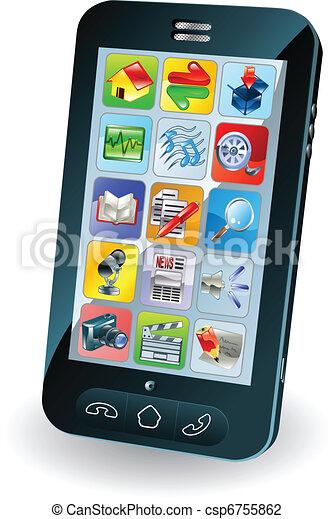 New smart mobile phone - csp6755862