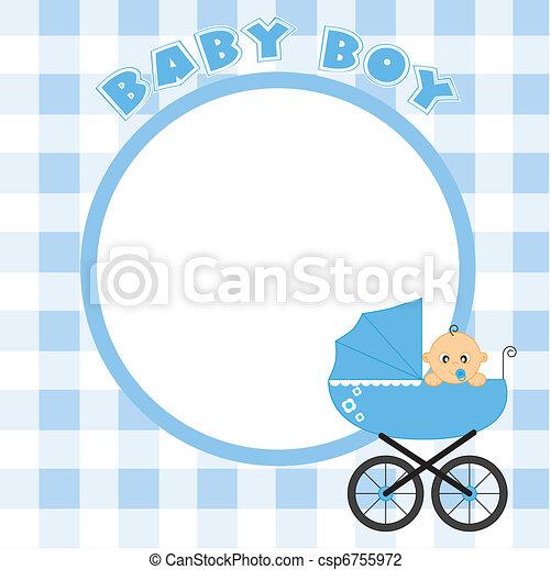 Frame for baby boy - csp6755972